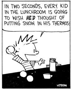Calvin and Hobbes - snow