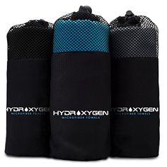 Microfiber Towels  HYDROXYGEN Fast Drying Super Absorbent Light  Compact Towels for travel beach surf  adventure Grey ** Learn more by visiting the image link.