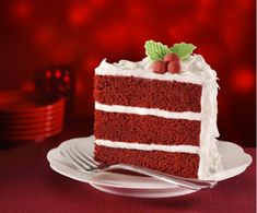 Red Velvet Chocolate Cake, Best Red Velvet Cake, Red Cake, Food Cakes, Cupcake Cakes, Cupcakes, Bolo Red Velvet Receita, Cake With Cream Cheese, Christmas Desserts