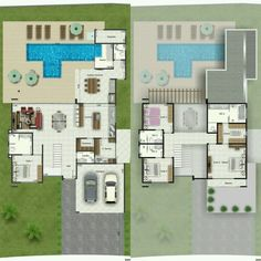 Home Design Plans Two Floor 45 Ideas Sims 4 House Plans, Pool House Plans, 2 Bedroom House Plans, Sims House, New House Plans, Dream House Plans, Modern House Plans, Masterplan Architecture, Circle House