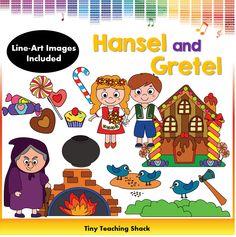 Hansel and Gretel fairytale clipart