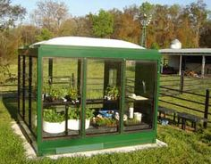 greenhouse made from a bus stop shelter