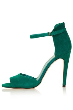 157f4984047 Topshop Rebel Clean 2 Part Sandals in Green