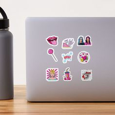 Cute Laptop Stickers, Glossier Stickers, Flask, Pop Art, Packing, Colorful, Bag Packaging, Art Pop