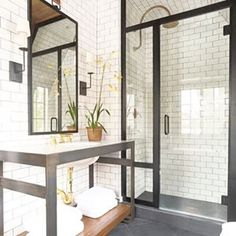 Someone definitely owns a shower squeegee. | 21 Pictures That Will Give You Major Bathroom Goals