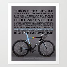 Perspective Art Print by Ritte Bicycles | Society6