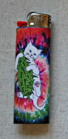 RipNDip Nug Cat, Tie Dye, Galaxy Custom Lighter