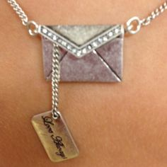 Love letter necklace - so cute!