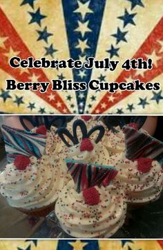 Berry Bliss Cupcakes The Whistle Stop Tea Room Tomball Texas