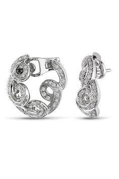 0.875 CT Diamond Fashion Earrings In 18k White Gold