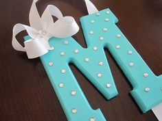 Tiffany Blue inspired Hair Bow Holder, covered in *sparkly* rhinestones