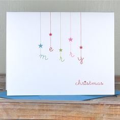 Personalized Christmas Cards - Falling Stars on Etsy, Personalised Christmas Cards, Homemade Christmas Cards, Holiday Greeting Cards, Xmas Cards, Christmas Greetings, Diy Cards, Homemade Cards, Christmas Diy, Holiday Wishes