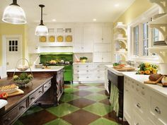 Explore beautiful pictures of kitchen layout ideas and decorating theme examples.