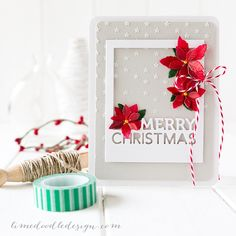 Debby Hughes - Lime Doodle Design - Simon Says Stamp STAMPtember release - CASE Study - christmas, card, poinsettia