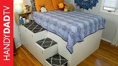 IKEA Hack Platform Bed - Freestanding Version - YouTube