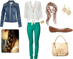 """""""Green skinny jeans outfit"""" by laurel-dantes on Polyvore"""