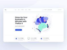 Thefox 4 Landing Page - Animation by Tran Mau Tri Tam ✪ on Dribbble Landing Page Inspiration, Web Design Inspiration, Website Design Layout, Web Layout, Web Design Trends, App Design, Design Innovation, Page Web, Travel Design