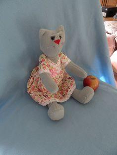 Softie Plush toy funny cat tilda doll soft toy by FunnyBunny345