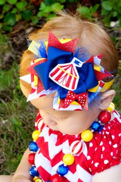 Baby Headband Big Top Circus Kinley Kate Limited by KinleyKate