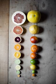 A rainbow of citrus! Click through for winter citrus dish ideas from Healthfully Ever After.