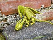green dragon Diorama, Green Dragon, Polymer Clay, Dioramas