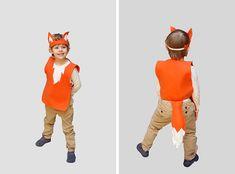 Fox costume - felt costume - przebranie lisa - strój lisa - lisek - bal karnawałowy Owl Costume Diy, Fox Halloween Costume, Fox Costume, Halloween Kids, Cute Baby Costumes, T Shirt Costumes, Diy Costumes, Animal Costumes For Kids, Kids Costumes Boys