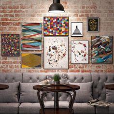 #decor #homedecor #bar #art #nyc#geometric#patterns#interior
