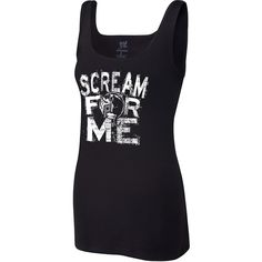 "Paige ""Scream For Me"" Women's Tank Top ❤ liked on Polyvore featuring activewear, activewear tops, merch, columbia sportswear and women activewear"