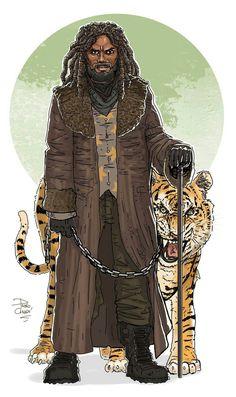 King Ezekiel and Shiva, Walking Dead The Walking Dead Shiva, Walking Dead Fan Art, Walking Dead Wallpaper, Walking Dead Series, Movies Showing, Movies And Tv Shows, King Ezekiel, Dead King, Cartoons