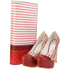 Stripes Heels & Clutch Set, £78, now featured on Fab.