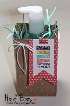 the creation station blog hop - amazing birthday (Heidi Boos, Stampin' Up!, Stuck on Stampin', Tag a Bag, birthday gifts)