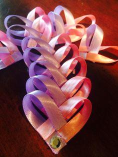 Heart hair clips for sale!!