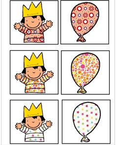 Cards to play the memory game! With illustrations by Liesbet Slegers. Preschool Birthday, Preschool Math, Preschool Worksheets, Kindergarten, Cognitive Activities, Montessori Activities, Activities For Kids, Folder Games, Matching Cards
