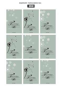 Gratis cadeaulabels!  (free printables)  Fijne feestdagen en een goed 2015!