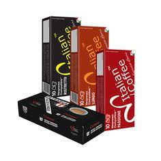 italian-premium-variety-40-nespresso-compatible-coffee-capsules Nespresso Essenza, Nespresso Lattissima, Nespresso Machine, Italian Coffee, Coffee Tasting, Classic Italian, Italian Cafe, Vintage Italian