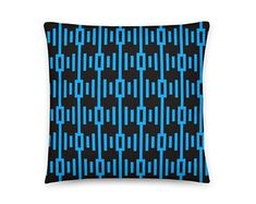 Blue Rap Rhythm Pillow, Artificial Emotional Intelligence by ArtekFatuek on Etsy Designer Pillow, Sacred Geometry, Home Decor Items, Cosmic, Mercury, Decorative Items, Wall Art Decor, Holiday Gifts, Astrology