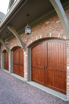 Did you remember to shut the garage door? Most smart garage door openers tell you if it's open or shut no matter where you are. A new garage door can boost your curb appeal and the value of your home. Garage Door Colors, Garage Door Styles, Garage Door Design, Diy Garage, Garage Ideas, Door Ideas, Garage Plans, Modern Garage Doors, Wood Garage Doors