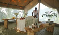 Massage before dinner in Naibor, Kenya