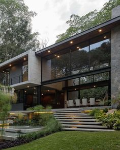 Dream House Interior, Luxury Homes Dream Houses, Dream Home Design, Modern House Design, Home Modern, Modern Contemporary, Modern Architecture House, Architecture Design, Modern Houses