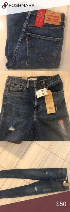 Mile high super skinny jeans Distressed skinny jeans. Levi's Jeans Skinny