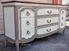 How can you not love a French Provincial dresser?  It's a classically elegant design that has withstood the test of time.  It ages gracefully and moves from one decade to the next with ease.  This is one of my favorite types of furniture to work with because of all the great det
