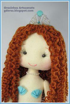 Felt mermaid handmade by Gracinhas Artesanato