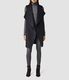 AllSaints New Arrivals: Ora Sleeveless Coat #newarrivals