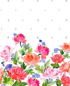 Pattern- Floral with Dots — Yao Cheng Design