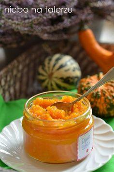 Łatwa konfitura z dyni. Dżem dyniowy z pomarańczą i wanilią Peach Jam, Granola, Preserves, Squash, Food And Drink, Low Carb, Healthy Recipes, Healthy Food, Lunch
