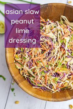 Purple Cabbage Recipes, Purple Cabbage Slaw, Asian Cabbage Salad, Cabbage Salad Recipes, Veggie Recipes, Vegetarian Recipes, Dinner Recipes, Healthy Recipes, Asian Slaw Recipes