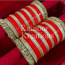 Jewelry & Watches Active Chura Bangle Set 2.8 Red Maroon Rhinstone Bridal Dulhan Punjabi Wedding Party