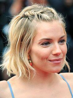51 New Hair Ideas: Sienna Miller's double hairline twist | allure.com