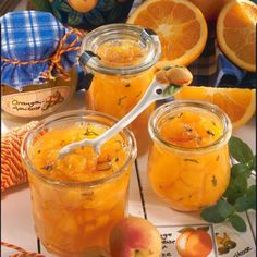 Apricot and orange jam with mint recipe DELICIOUS - The recipe for apricot and orange jam with mint and other free recipes LECKER. Mint Recipes, Jam Recipes, Free Recipes, Healthy Eating Tips, Healthy Nutrition, Chutneys, Cooking Jam, Orange Jam, Marmalade Recipe