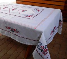 Embroidered Tablecloth Cherry Blossom By VizerunokUA On Etsy